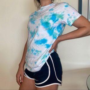 Upcycled hand tie dye tshirt